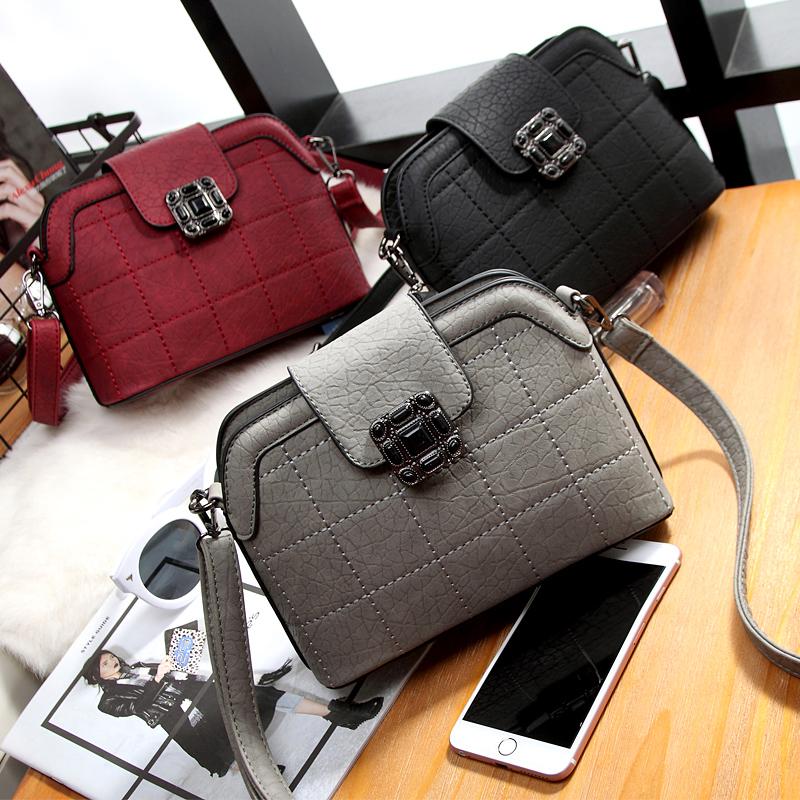 2016 summer handbags new wave of female Quilted shell bag handbags British retro shoulder bag Messenger small bag(China (Mainland))