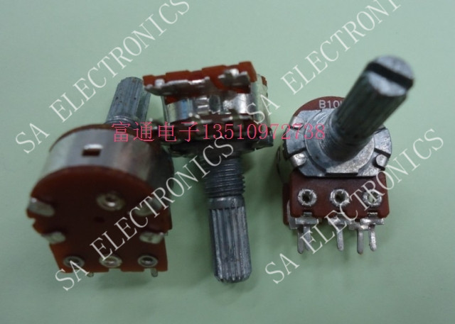 [BELLA]Supply volume potentiometer RV16 audio associated with a single- axis switch B10K-20--50PCS/LOT(China (Mainland))