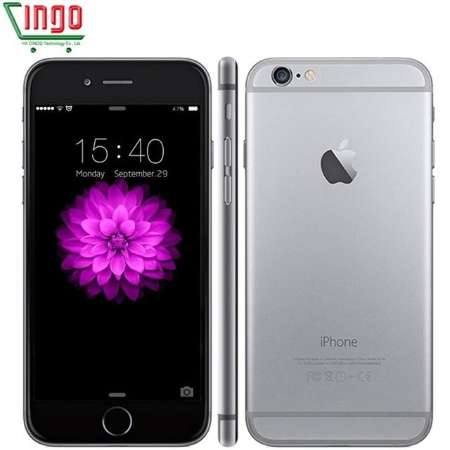 Разблокирована Оригинальный Apple iPhone 6 Plus 16/64/128 ГБ ROM 1 ГБ ОПЕРАТИВНОЙ ПАМЯТИ 5.5 экран ios9 телефон 8MP/Pixel LTE 6 Плюс бывших в Употреблении Мобильных телефон