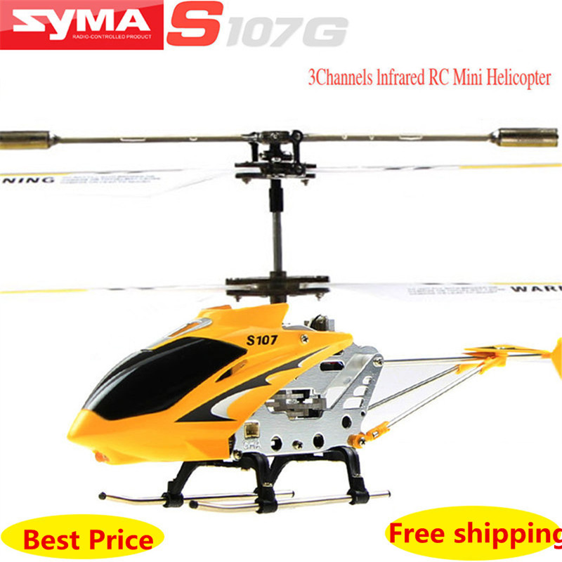2015 New Arrive Syma High quality alloy fuselage S107g 3.5 Channel Mini Co-Axial Metal RC Helicopter w/ Built in Gyroscope(China (Mainland))