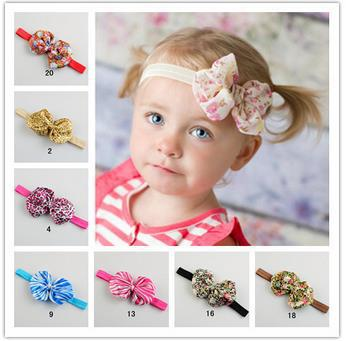 New Hot Sale Baby Girls Striped Design Headband Bowknot Style Hairband Infant Toddler Photography Props Hairwrap Headwear(China (Mainland))