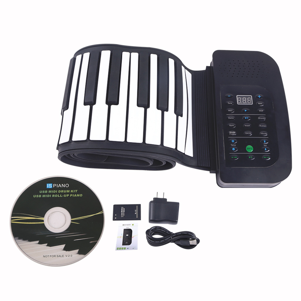 88 Key MIDI Flexible Silicone Electronic Roll Up Piano PA88 for PC Computer free shipping<br><br>Aliexpress