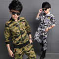 Children Clothing Sets For Boys Camouflage Sports Suits Autumn Tracksuits Teenage Boys Sportswear 4 5 6
