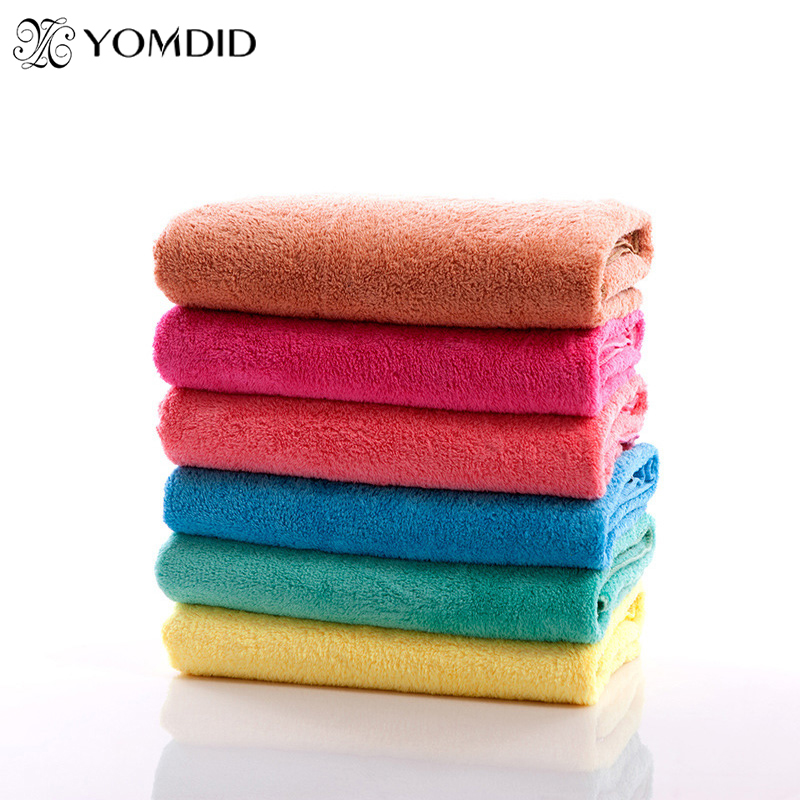 Solid Microfiber Bath Towel Face Hair Body Bath Quick Dry Adults Washclothes Super Absorbent Swimwear Shower Towels Face Towel(China (Mainland))