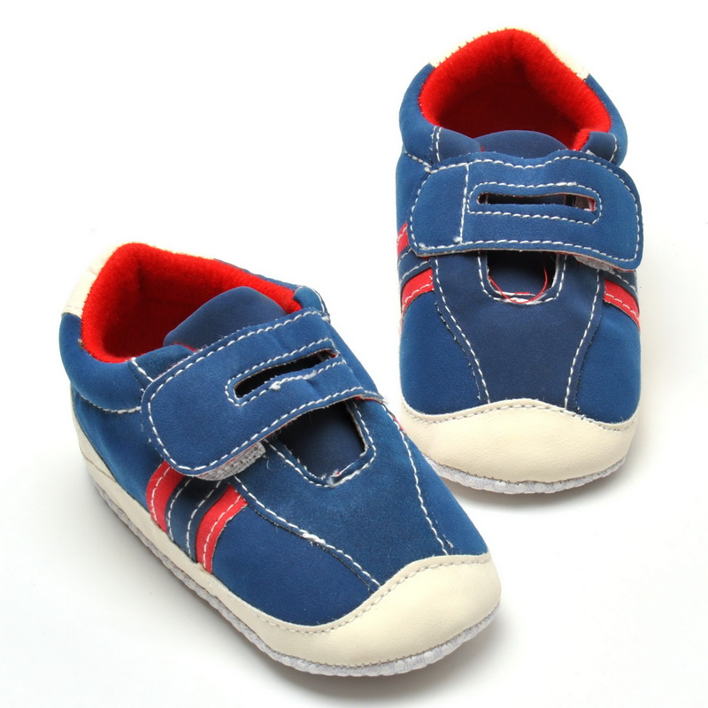 Trendy Fashion Baby Boy Soft Sole Fashionable First Walkers non-slip Crib Shoes For 0-18 Months(China (Mainland))