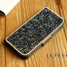 Buy Shining Bling rhinestone flip diamond phone case PU skin Leather iphone 6 4.7inch 6 plus 4g 5s 5g 5c luxury Wallet Card Case for $8.44 in AliExpress store