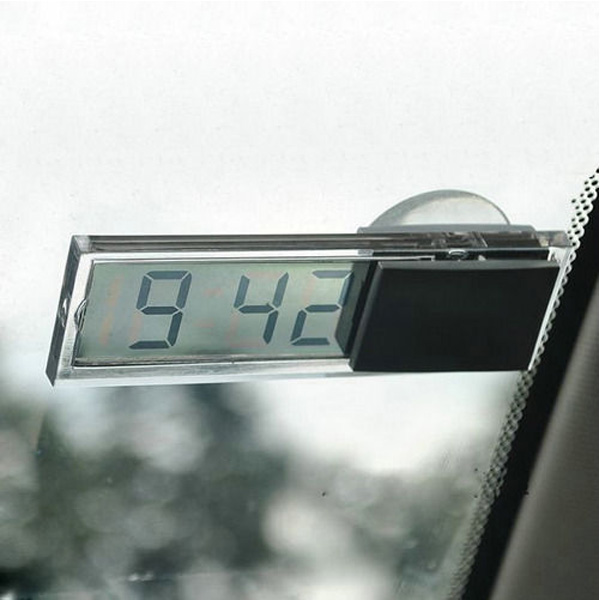 Transparent LCD Digital Room Temperature Meter Thermometer Car Windshield Tide(China (Mainland))