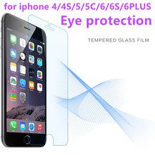 Eye protection For iPhone 5 5s Tempered Glass For iPhone 6 6s Plus Screen Protector Glass For iPhone SE 5c 4s 4 Protective Film