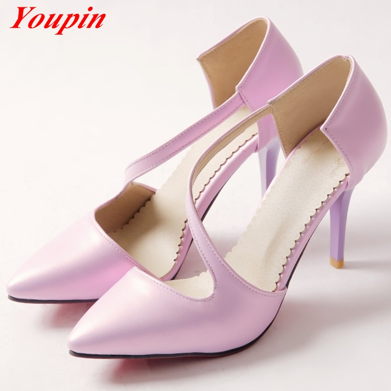Asakuchi Thin Heels 2016 Spring/Autumn Latest Fashion Party High heels woman large size 33-43 Pointed Toe Simple comfortable<br><br>Aliexpress