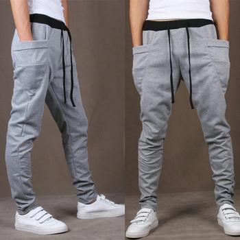 2016 Hot Selling Spring Autumn Solid Jogging Pants For Men Casual Slim Mens Harem Pants Joggers