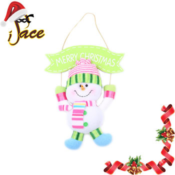 Christmas 20pcs/lot New Fashion Indoor Christmas Decoration Pink Hat White Snow Man Popular Handwork Christmas Gift 36214B(China (Mainland))