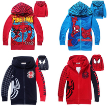 1PCS Spiderman coats for children Clothes 2015 Children's Coat boys hoodies jackets Kids cartoon baby zipper coat &outerwear(China (Mainland))