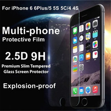 Premium Tempered Glass For Apple iphone 6 6S Plus 5 5S 5C 4 4s Screen Protector 9H 2.5D Protective Film With Retail Package