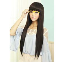 Синтетические фронта парик новый женский мода должен-роуз волосы парик с длинными прямыми потому Aliexpress завод прямых торговых агентов