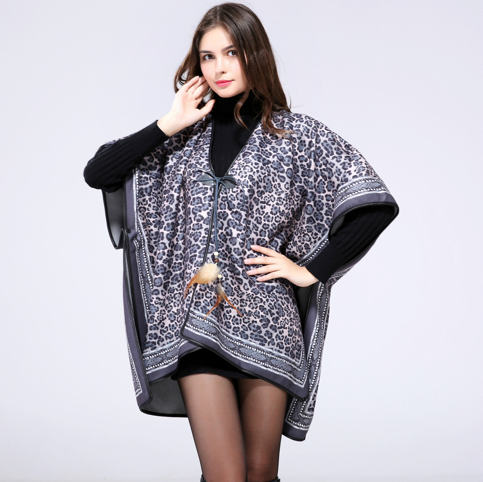New Winter Fashion Big Cape Leopard Print Trend All-match Shawls Manufacturers Selling Not Out Of Stock(China (Mainland))