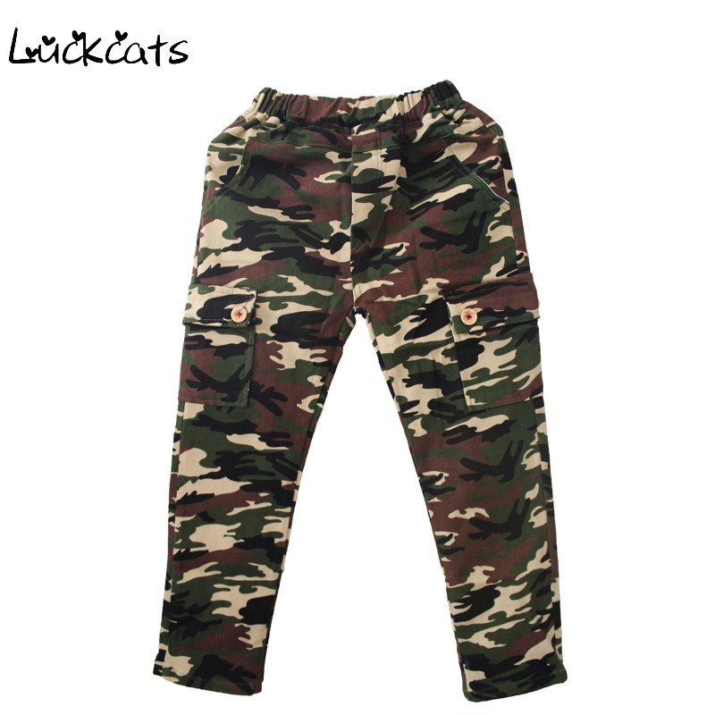 Luckcats New Fashion 3-7Years Old Boys Camouflage Pants Baby Childrens Full Length Cotton Cargo Pants Kids Sports Trousers(China (Mainland))