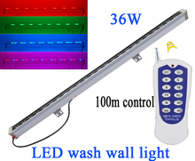 36W Linear Bar Led Floodlight, 85-265v waterproof ip65 Remote control Led Wall washer,Outdoor Led Tube lamp