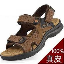 2015 Camel male sandals slippers genuine leather cowhide male sandals outdoor casual dual-use leather sandals Camping(China (Mainland))
