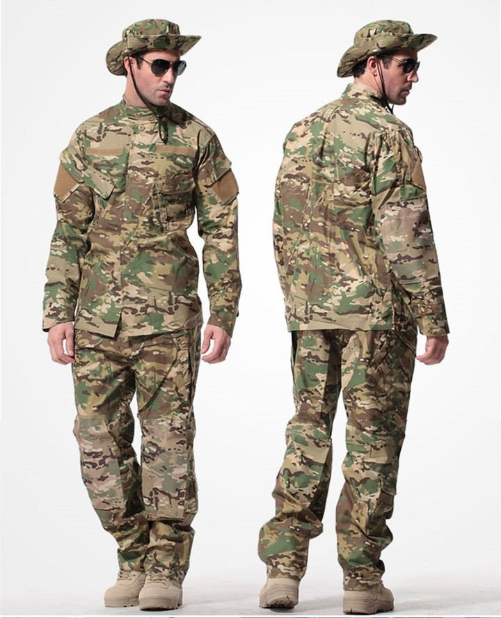 Gray-8-Colors-Tactical-Uniform--Jacket-And-Army-Pants-MultiCam-ACU-Woodland-A-TACS-FG-Camouflage