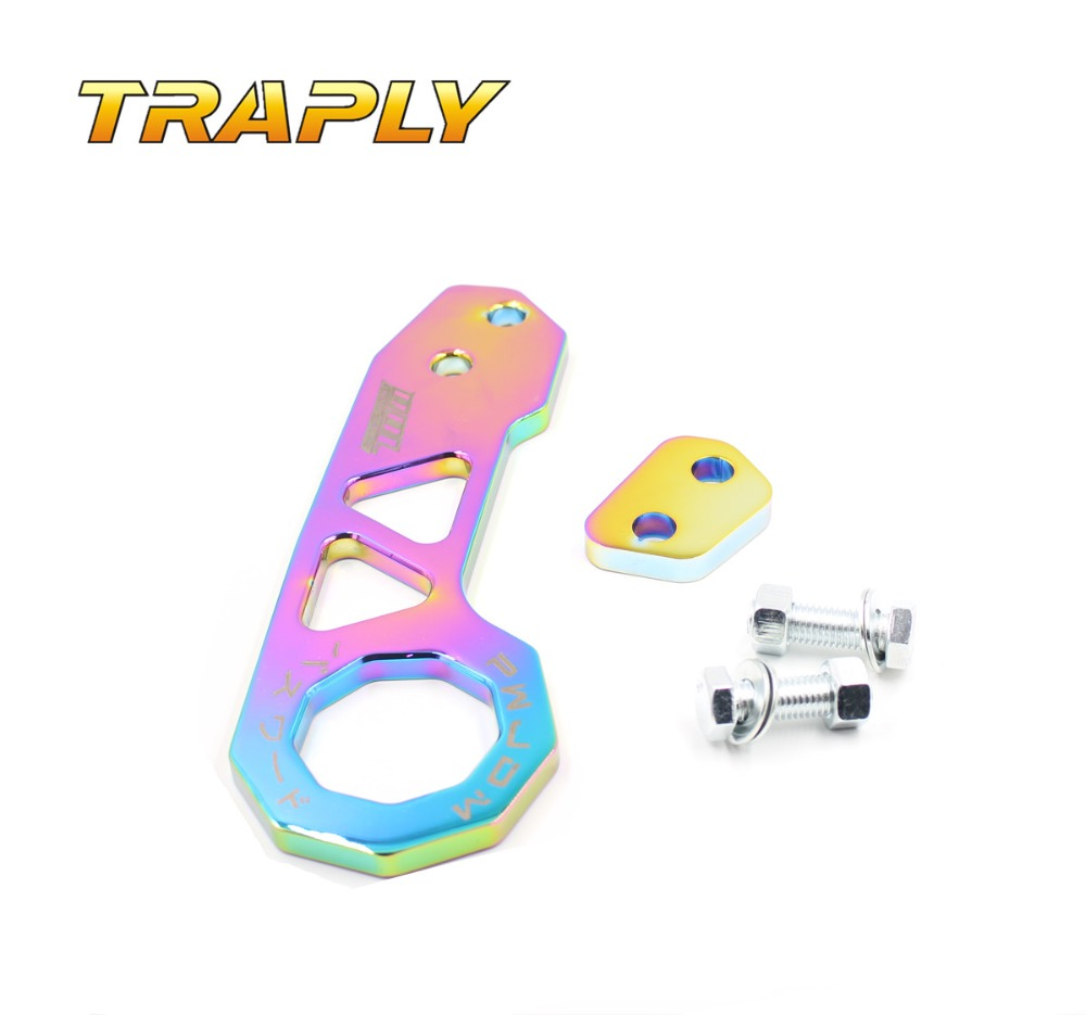 Traply new Aluminum neo chrome Racing race CAR universal rear Tow Hook towing bars(China (Mainland))