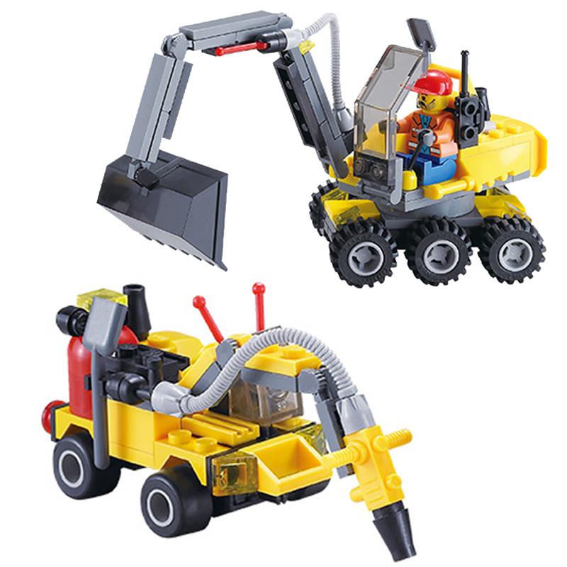 196pcs Original City Construction Excavator Building Blocks Bricks Toys Brinquedos Forge World Compatible Model Building Kits(China (Mainland))