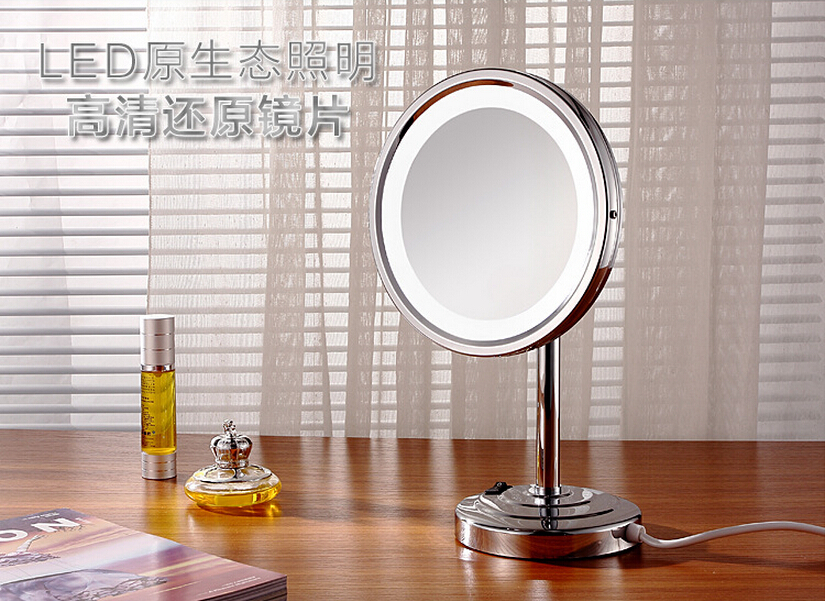 2015 high quality brass material chrome finish LED bathroom 3 times make-up 8' dressing mirror bathroom accessories(China (Mainland))
