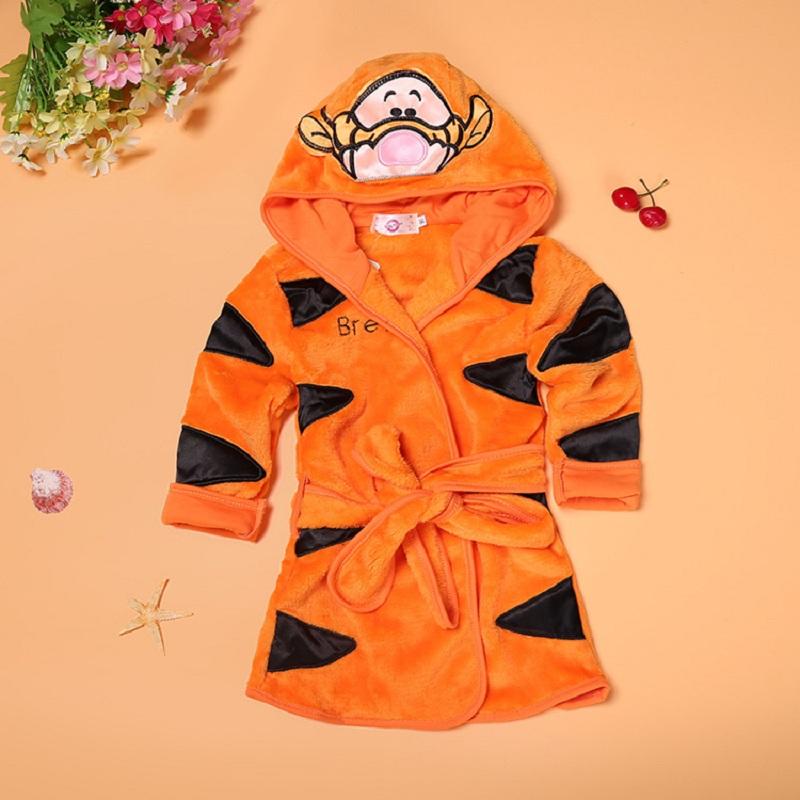 2017 new Children Pajamas Robe Kids clothes boys girls Micky Minnie Bathrobes Baby Cartoon Home Wear baby clothing BSY001