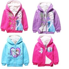 Free shipping Romantic cotton Snow Queen Baby Kids sweatshirt long-sleeve T-shirt Winter child girls hooded pullover coat