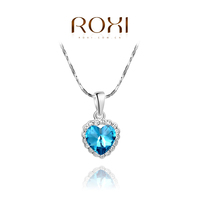ROXI Collares 925 Sterling Silver Necklaces & Pendants Fine Jewelry Necklace Maxi Colar Jewellery Elegant Pearl Jewelry
