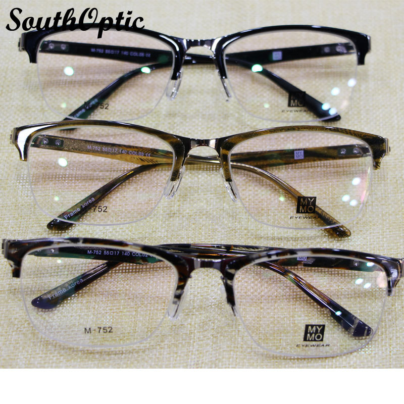 Half Rim Glasses Men Women Prescription Myopia Reading ...
