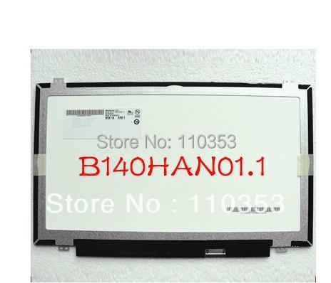 Free shipping Brand new A+ B140HAN01.1 B140HAN01.2 LCD Screen 1920*1080 EDP Slim LCD <br><br>Aliexpress