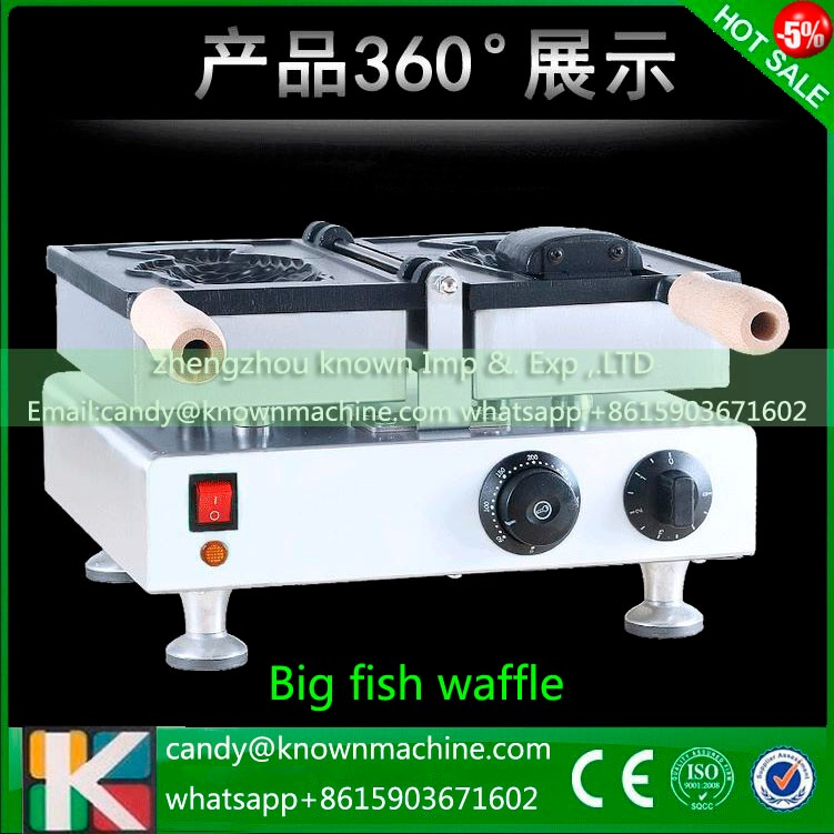 single head open-mounth fish waffle maker