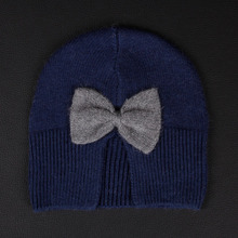 2016 Free shipping  Winter hat with a bow of the bow of the warm winter! Enthusiasm for the listing, etc.!(China (Mainland))