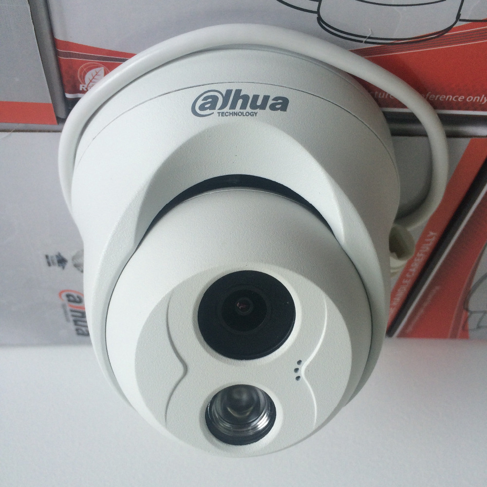 Original Dahua IPC-HDW4300C Built-in MIC IR HD 1080p IP Camera 3MP English Firmware Support POE cctv Dome Camera(China (Mainland))