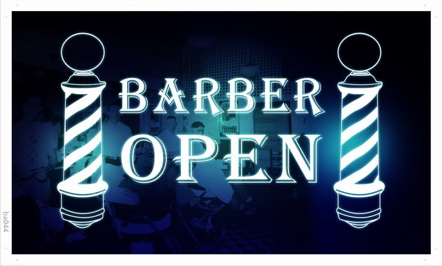 ba044 Barber Poles Display Hair Cut NR Banner Shop Sign Wholesale Dropshipping(China (Mainland))