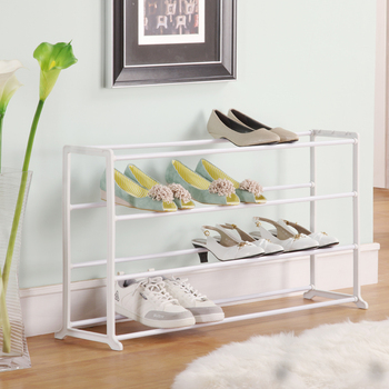 Free shipping Pursing stainless steel white brief fashion iron lengthen shoes rack