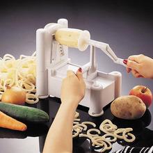 Espiral vegetal fruta Slicer Tri-Blade herramientas de la cocina para ensalada adorne trituradora multifuncional fruta Slicer utensilios de cocina Gadgets(China (Mainland))