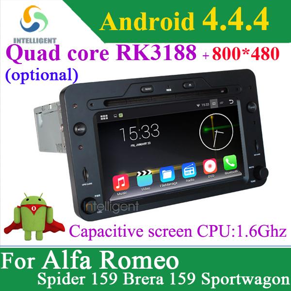 Android 4.4.4 Quad core RK3188 cpu car dvd player For Alfa Romeo Spider Alfa Romeo 159 Brera 159 Sportwagon with GPS WIFI 3G BT(China (Mainland))