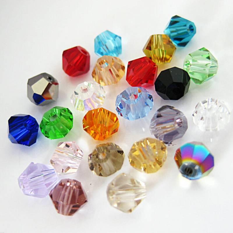 Wholesale Lots 300-1000pcs 4mm 6mm 8mm Crystal Polyhedron Bicone DIY Beads(China (Mainland))