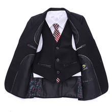 Newest Wedding suits for Baby boys Blazer suit Kids boy 3 piece Blazers jackets set Jacket+Vest+Pant blazer terno infantil