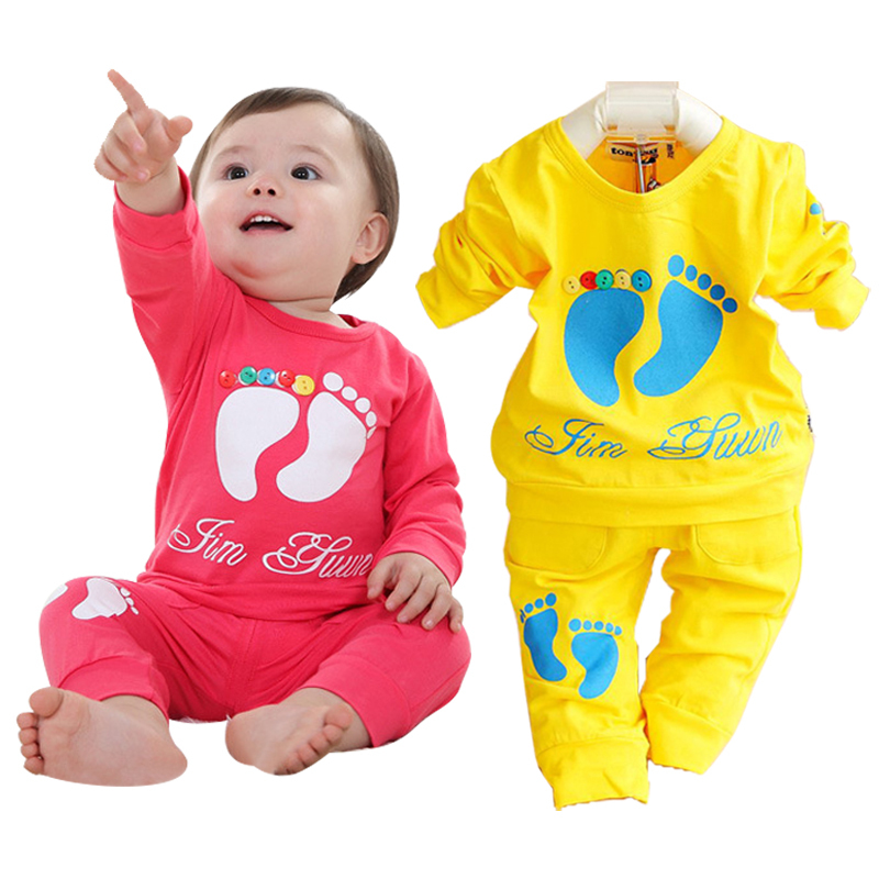 Promotion boy clothing set casual brand kids clothes long sleeve cotton children clothing wholesale price baby girls sport suit(China (Mainland))