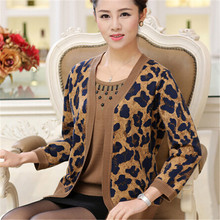 mother sweater 2016 autumn women's elegant faux two piece long sleeve sweater loose plus size women sweaters and pullovers(China (Mainland))
