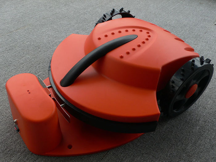 Free Shipping 30 maximum degree slope mower manufacturer Cheap Electric Lawn Mower Robot With Lead-acid Battery,100M wire(China (Mainland))