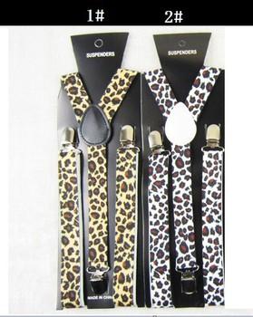 Леопардовый животное печать подтяжк прорезиненная тесьма Y - задняя часть 2, 5 см ...