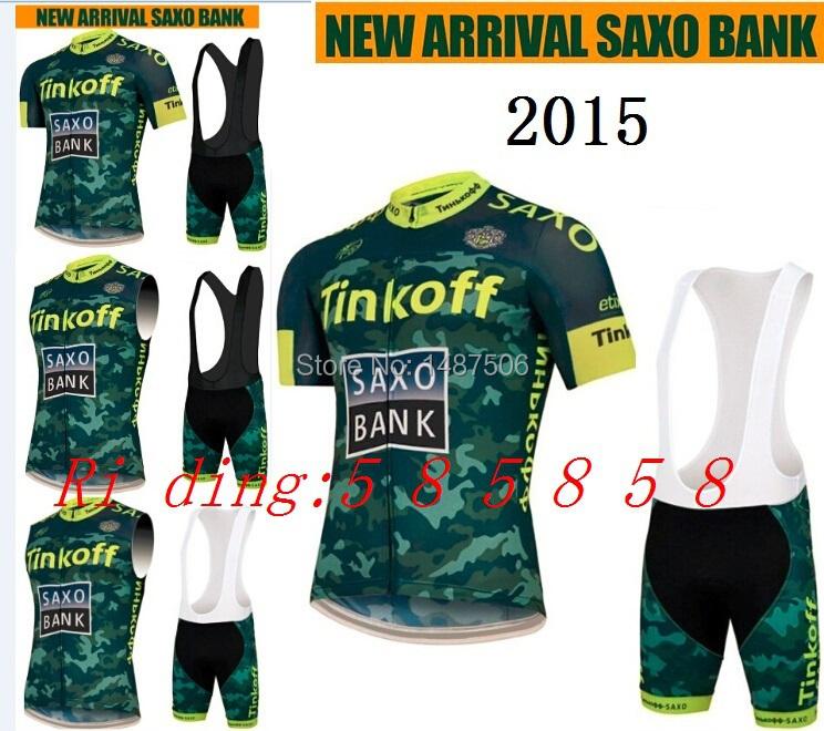 2015 Tinkoff Soxo Bank Cycling Jersey Kit Short Sleeve+bib GEL Shorts Men Bike ropa ciclismo MTB Cycling Clothing Many choose(China (Mainland))
