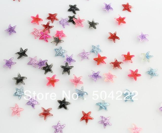 set of 120pcs handmade miniature nail art resin glitter star starfish Cabochon for Kawaii Decoden DIY Projects-SZ0377<br><br>Aliexpress