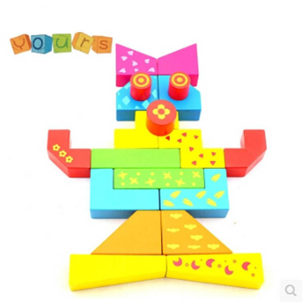 Early Childhood Educational Toys : Magic cube blocks children s building wooden early