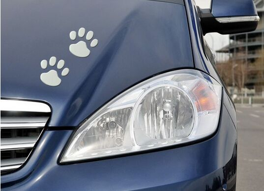 2pcs/ Lot Paw pet Animal Footprint emblem 3D car stickers decor for Nissan Teana X-Trail Qashqai Livina Sylphy Tiida Sunny March(China (Mainland))