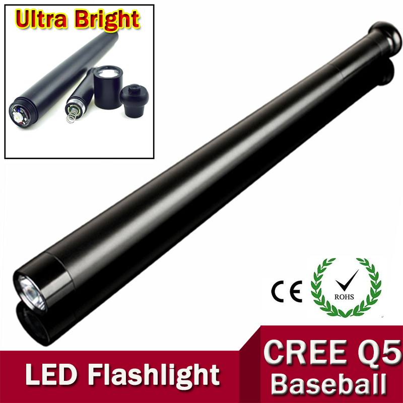 CREE Q5 Torch Ultra Bright LED Flashlight Mini Baseball bat shape For Security Dropshipping ZK88(China (Mainland))