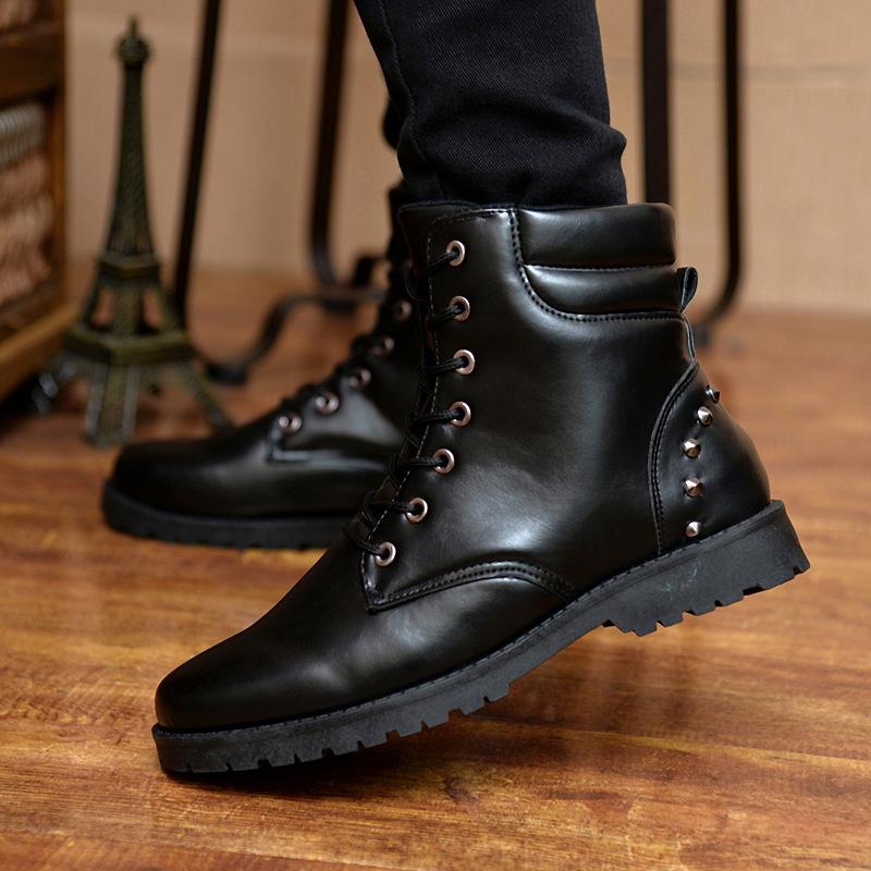 fashion 2016 winter leather dr martin boots fur martin